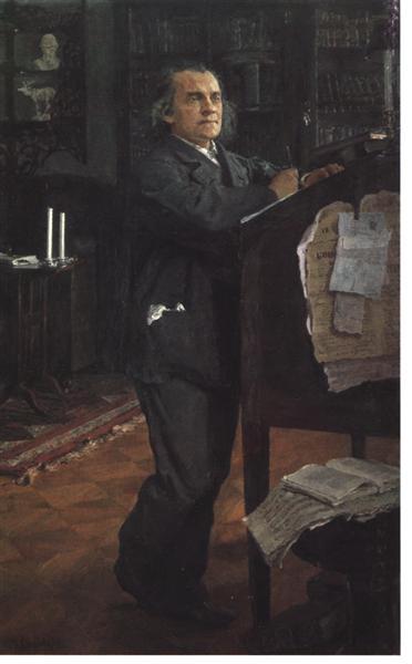 portrait of the composer alexander serov 1888 89 XX the russian museum st petersburg russia